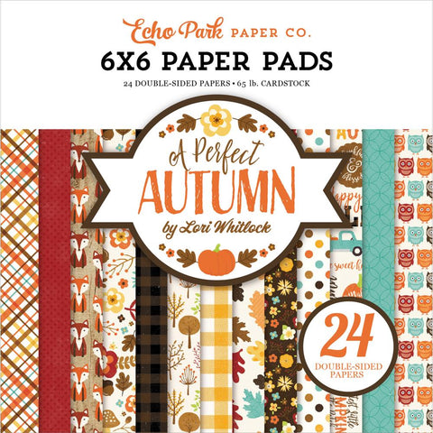 "Echo Park Double-Sided Paper Pad 6""X6"" 24/Pkg - A Perfect Autumn"