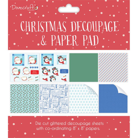 "Dovecraft Christmas Decoupage & Paper Pad 8""X8"" - Red"