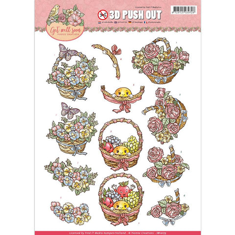 Find It Yvonne Creations Get Well Soon Punchout Sheet - Fruit Basket