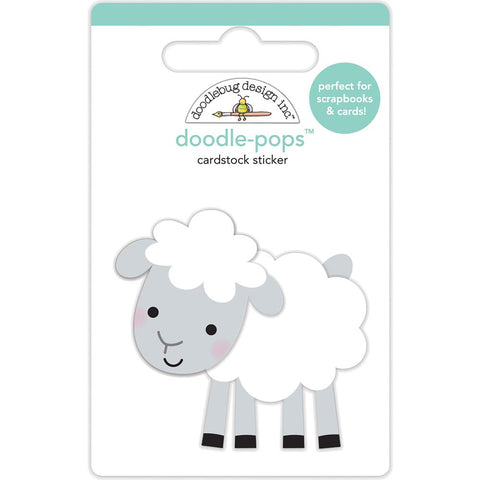 Doodlebug Doodle-Pops 3D Stickers - Little Lamb - Down to the Farm