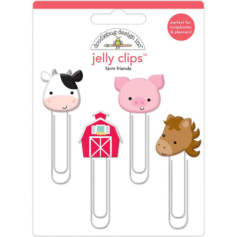 Doodlebug Jelly Clips 4/Pkg - Down On The Farm