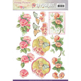 Find It Trading Jeanine's Art Vintage Flowers Punchout Sheet