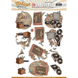 Find It Yvonne Creations Vintage Objects Punchout Sheet - Vintage Music