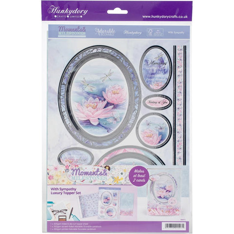 Hunkydory Moments & Milestones A4 Topper Set - With Sympathy