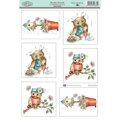 "Daisy Mae Draws Topper Sheet 8.5""X12.2"" - Meadow Friends"