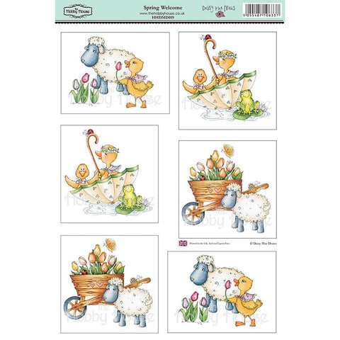 "Daisy Mae Draws Topper Sheet 8.5""X12.2"" - Spring Welcome"