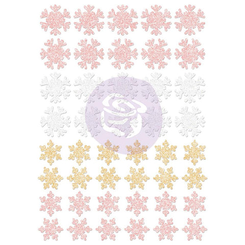 Santa Baby Glitter Stickers - Snowflakes