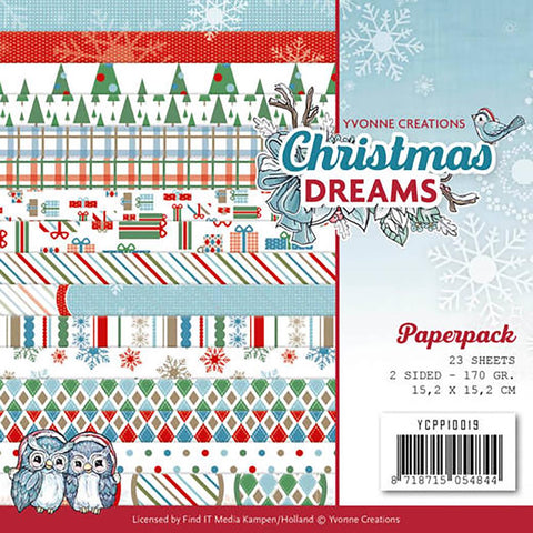 "Find It Trading Yvonne Creations Paper Pack 6""X6"" 23/Pkg - Christmas Dreams"