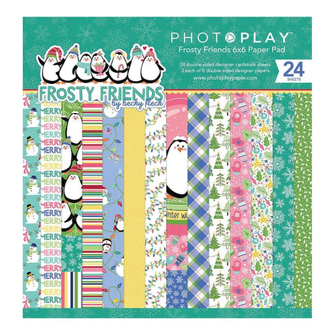 "PhotoPlay Double-Sided Paper Pad 6""X6"" 24/Pkg - Frosty Friends"