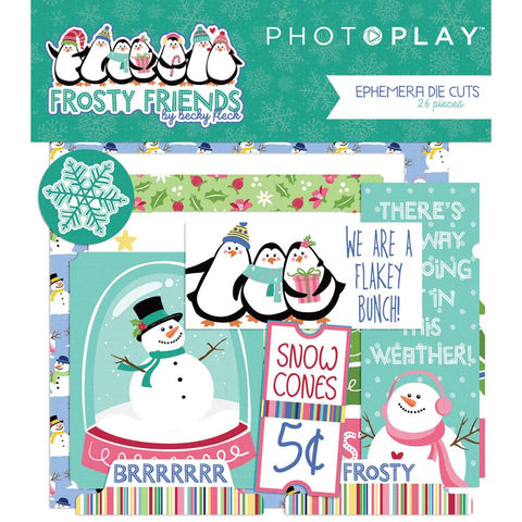 Frosty Friends Ephemera Cardstock Die-Cuts 26/Pkg