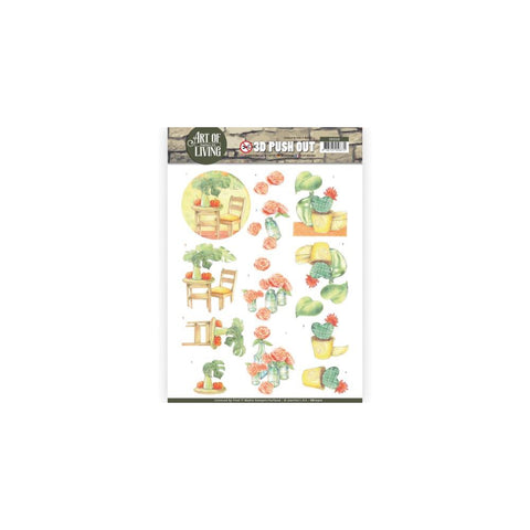 Find It Trading Jeanine's Art Art Of Living Punchout Sheet - Orange Art