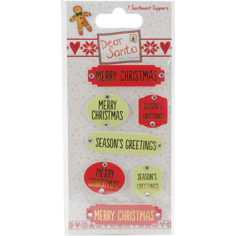 Helz Dear Santa Adhesive Toppers