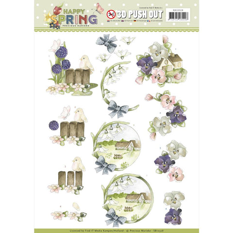 Find It Precious Marieke Punchout Sheet - On The Farm, Happy Spring