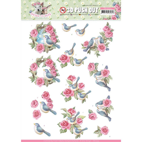Find It Trading Amy Design Punchout Sheet - Spring is Here