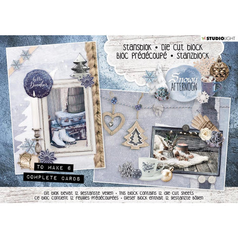 Studio Light Die-Cut Card Toppers A5 12/Pkg - Snowy Afternoon