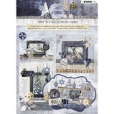 Studio Light Die-Cut Card Toppers A4 12/Pkg - Snowy Afternoon