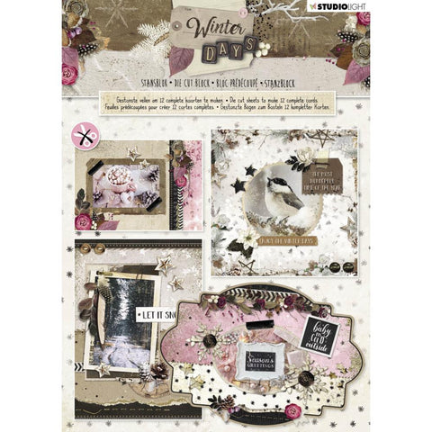 Studio Light Die-Cut Card Toppers A4 12/Pkg - Winter Days