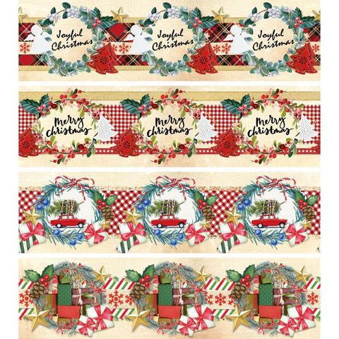 "Studio Light Shrink Sleeves 15""X4.25"" 3/Pkg - Classic Christmas"