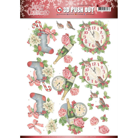 Find It Jeanine's Art Punchout Sheet - Christmas Time, Lovely Christmas