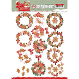 Find It Yvonne Creation Punchout Sheet - Sweet Wreaths, Sweet Christmas
