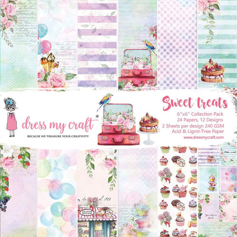 "Dress My Crafts Single-Sided Paper Pad 6""X6"" 24/Pkg"