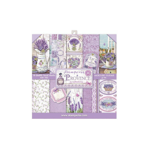 "Stamperia Double-Sided Paper Pad 8""X8"" 10/Pkg - Provence"