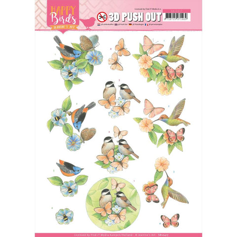 Find It Trading Jeanine's Art Punchout Sheet - Feathered Friends, Happy Birds