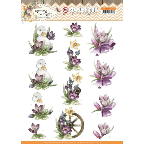 Find It Trading Precious Marieke Punchout Sheet - Purple Crocus