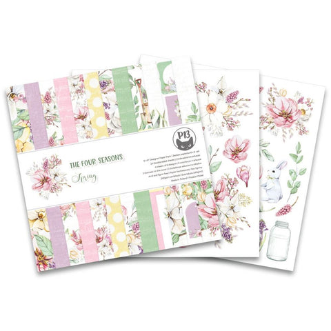 "P13 Double-Sided Paper Pad 6""X6"" 24/Pkg - The Four Seasons-Spring"