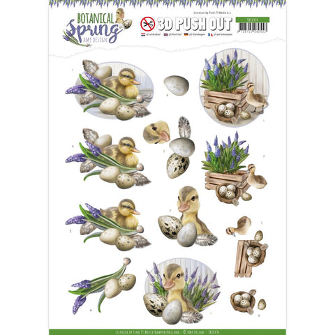 Find It Trading Amy Design Punchout Sheet - Happy Ducks