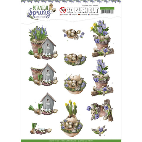 Find It Trading Amy Design Punchout Sheet - Spring Arrangement