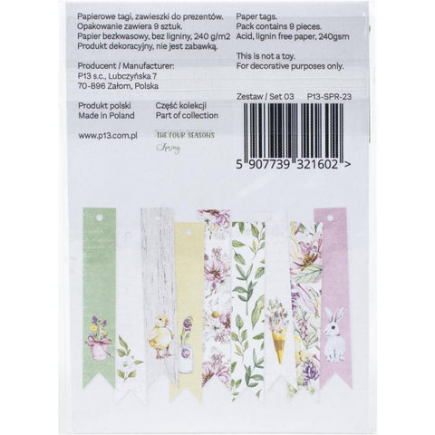The Four Seasons-Spring Double-Sided Cardstock Tags 9/Pkg