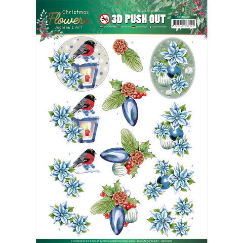 Find It Trading Jeanine's Art Punchout Sheet - Christmas Lantern, Christmas Flowers