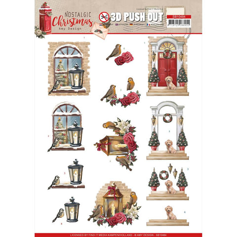 Find It Trading Amy Design Punchout Sheet - Warm Christmas, Nostalgic Christmas