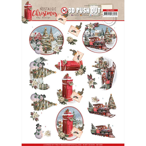 Find It Trading Amy Design Punchout Sheet - Christmas Train, Nostalgic Christmas