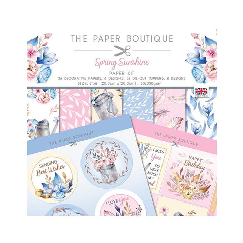 "The Paper Boutique Paper Kit 8""X8"" - Spring Sunshine"
