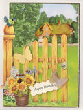 Card topper fence