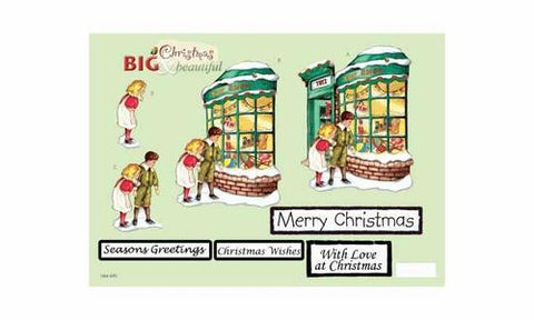 Craft UK Big & Beautiful - Christmas Shop Window Die-Cut Sheet