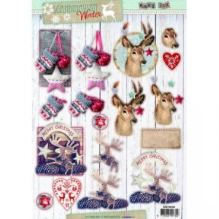 Studio Light 3D Die Cut Sheet - Scandinavian Winter