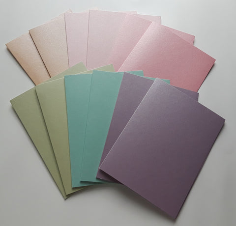 Pearlescent Cards W/Envelopes A6