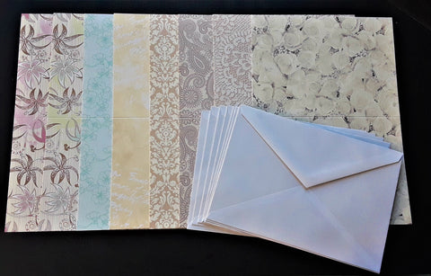 "Printed Cards W/Envelopes 5-6/8""x 4-1/8"" (8 pack)"