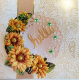 Easy 3D Die-Cut Toppers - XL Flowers in 1/2 Circle 1