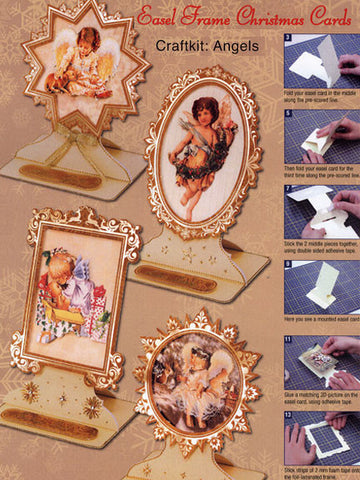 3D Easel Frame Card Making Kit - Angels