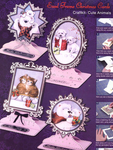 3D Easel Frame Card Making Kit - Cute Animals