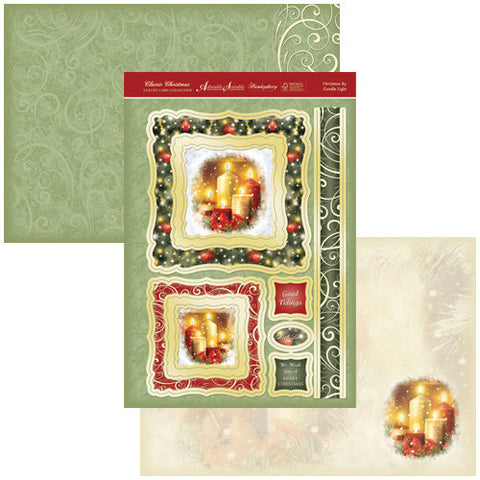 Hunkydory Luxury Topper Collection - Christmas Classic Card Toppers - Christmas By Candle Light