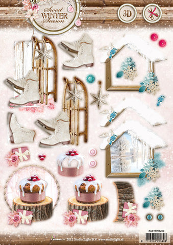 Studio Light Die Cut Sheet - Sweet Winter Season