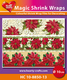 Magic Shrink Wraps -  X-mas Flowers (⌀ 10 cm)