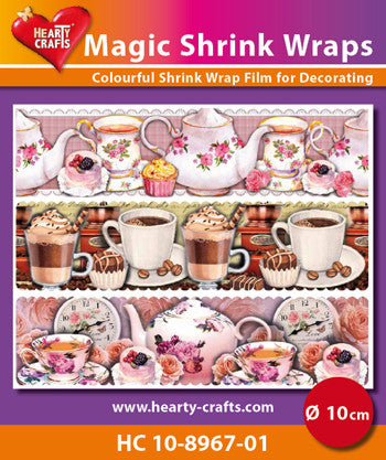 Magic Shrink Wraps - Coffee and Tea (⌀ 10 cm)
