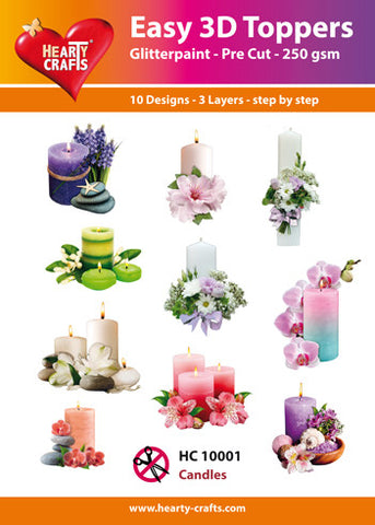 Easy 3D Die-Cut Toppers - Candles