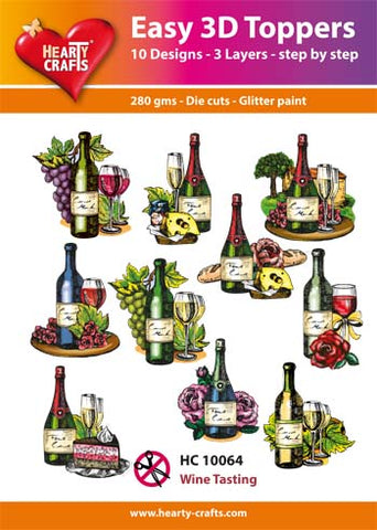Easy 3D Die-Cut Toppers - Wine Tasting